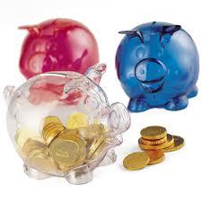 Piggy bank 3 colours