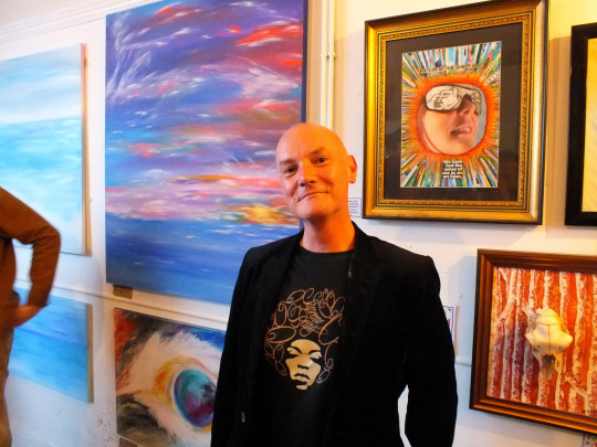 Brian with Staci art